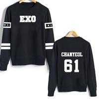 Wholesale Exo Kris - Wholesale-EXO KPOP Unisex Sweatshirts Luhan Kris Chanyeol Sehun Chen Lay Xiumin Tao Kai Hoodie long sleeve hoody Outerwears tshirt