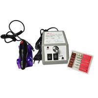 máquina de archivo al por mayor-Al por mayor-profesional manicura pedicura eléctrica taladro archivo Nail Art Pen Machine Set Kit