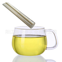 Wholesale resistance wear - Stainless Steel Stainer Tea Sticks Resistance To Fall Anti Wear Teaspoon Colander Sturdy Silver Tea Infuser Filter Hot Sale 4rt B