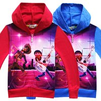 Wholesale Playing Guitar Kids - 2017 New Movie COCO Cosplay Costumes Cartoon Cardigan Sweater Miguel and Hector Play Guitar Print Hoodies for Kids 3-8 Years Old