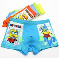Wholesale Bamboo Underware - 1Pcs Boys underwear panties Despicable Me Minion children pants Bamboo fiber baby boy boxer underpants briefs underware