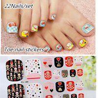 Toe 10sets Pied Summer Fashion Nails art autocollant + Mix Designs rose de Nail Art Décoration Pieds bricolage soins Outils KMOTJ65-80
