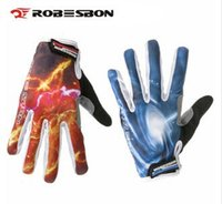 Wholesale Driver Gloves For Men - Wholesale-Sky Lighting Print Full finger gloves for drivers Red and Blue Men Women Unisex guantes Touch Screen de invierno para ciclismo