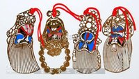 4 pezzi unici Opera di Pechino Preferiti Imposta cinesi stile regali di modo del Cloisonne di metallo di rame decorato Crafts 10sets / pack