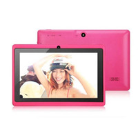 Wholesale cheap tablets online - Q88 Inch Android Tablet with keyboard case PC ALLwinner A33 Quade Core Dual Camera GB MB Capacitive Cheap Tablets