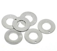 Wholesale Silver Circle Blank Pendant - Wholesale-20 Silver Tone Stainless Steel Round Circle Pendants Blank Stamping Tags 20mm