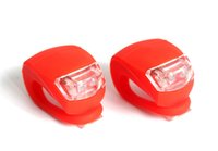 Wholesale Silicon Bike Lights - Mini Brillant Waterproof SILICON Bike Bicycle Cycling Beetle Warning Light LED Front Light Rear Tail Lamp free shipping