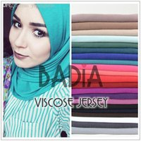 Wholesale Scarves Islamic Women - Wholesale-High quality hijab women viscose cotton jersey scarf muslim islamic solid plain jersey hijabs maxi scarves soft shawls head wrap