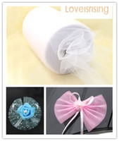 "Wholesale Tutu Table Centerpieces - New Arrivals-4 Rolls 6""x100y White Color Tulle Rolls Spool Tutu DIY Craft Wedding Banquet Fabric Wedding Car Decor"