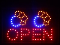 Оптовые-nled073-r Dog Paw Print OPEN Pet Shop LED Неоновый знак 16