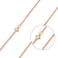 Wholesale Sterling Silver S925 Chains China - New Jewelry S925 Sterling Silver Necklace Fashion Rose Gold Plated Box Chain Necklace For Women Wedding Gift