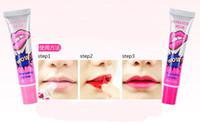 Wholesale Tattoo Balm - DHL Free 576Pcs lot Lip Gloss Peel-off lipstick Lasts for 24h Magic Lip Tattoo Lipstick Waterproof Moisturizing Lip Balm 6 colors