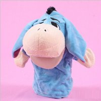 Wholesale Duck Puppets - 25cm Hot Products Jungle Book props 0-24 months Baby toys Animal hand puppet Lions,tigers,ducks,monkeys,giraffes,rabbits