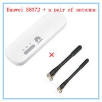 Wholesale 4g Lte Usb Modem - Freeshipping Unlocked E8372 ( plus a pair of antenna) LTE USB Wingle LTE Universal 4G USB WiFi Modem car wifi E8372h-608 E8372h-153