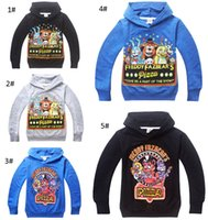 Wholesale Larger Children Clothes - Fashion Cartoon Five Nights at Freddy's FNaF Boys Hoodies 6-14Y Larger Boy Hooded T Shirts Children Sputerwear coat fashion clothing
