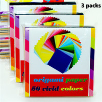 Wholesale Projects Arts - 3pack 50 Vivid Colors 150 Sheets Origami Paper , premium Quality 6-Inch by 6-Inch for Arts and Crafts Projects