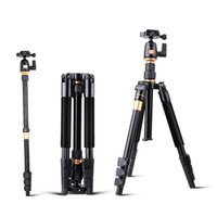 Wholesale Original QZSD Aluminium Alloy Professional Extendable Tripod DSLR Camera Video Monopod with Quick Release Plate Plate Stand Q555 BA