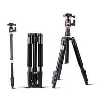 plaque de dégagement rapide de caméra vidéo achat en gros de-Trépied extensible professionnel pour appareil photo DSLR Monopied vidéo en alliage d'aluminium QZSD avec support à plaque de dégagement rapide