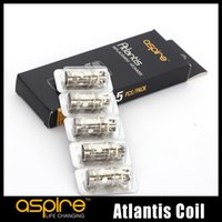 Wholesale Mega Wholesalers - 100% Original Aspire Atlantis TC Coil Ni 200 0.15 0.3 0.5 1.0ohm Coils For Atlantis 2.0 Mega Clearomizers