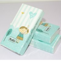 Wholesale Wholesale Printed Paper Napkins - Wholesale retail new desgin toilet tissue napkin paper printed cartoon boy girl heart MISS U handkerchief wedding serviette birthday party