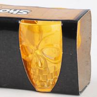 ingrosso tazze di plastica arancione-4pcs Halloween Skull Shot Glass Bere tazze di plastica 4 colori per scegliere arancione / viola / bianco / nero
