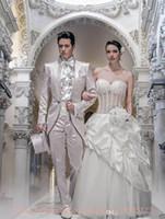 Wholesale Wedding Dresses 88 - High quality Best StylishTailcoat Haut Groom Tuxedos Men's Wedding Dress Prom Clothing (Jacket+pants+tie+Girdle)A:88
