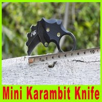 Wholesale gear cut tool online - 201411 Mini the one karambit knife AUS fixed blade claw excellent EDC gear Camping knife hiking knife cutting tool X