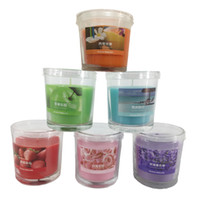 Wholesale Wholesale Candles Tapers - 25 Hours Scented Candles Glass Cup Conicle Candle With A Variety Of Fragrance Aroma Paraffin Wax Aromatherapy Candles Product Code :75-1013