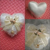 Wholesale 2015 New Style ring pillows for wedding ring pillow n flower basket sets wedding ring pillows