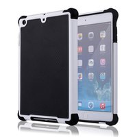 Wholesale Ipad Hybrid Case White - Combo Hybrid Rugged Impact Football Skin 3 in 1 Shockproof Heavy Duty Armor Hard Case for Apple iPad Mini 1 2 3 Mini2 Mini3 7.9 inch