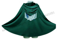 Teenage attack on titan - Anime Shingeki no Kyojin Cloak Cape clothes cosplay Attack on Titan Size