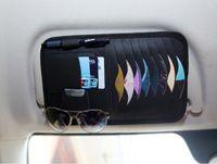 Wholesale Dvd Car Holder Bag - Auto Car Sun Visor DVD CD Disk Card Case Storage Holder Clip Cover Bag