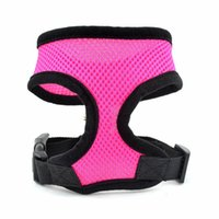 Wholesale Large Pink Harness - S5Q Multi-colored Pet Dog Soft Adjustable Breathable Air Mesh Puppy Vest Harness AAAEOA