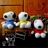 Wholesale Snoopy Dog Gift - 2018 Creative Child Soft Plush Toys 20cm SNOOPY Snoopy Dog Plush Dolls Small Pendant Movie 3 Colors Christmas Gifts Free Shipping