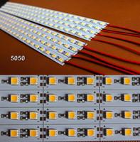 Wholesale Led Housing Strip - 5M 10pcs 0.5m 5050 LED 36LEDs 12V Hard Strip Bar Light + Aluminium Alloy Shell Housing Rigid Strips CE ROSH