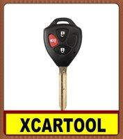 Wholesale Toyota Camry Key Keyless Entry - car Auto key for Camry Key Shell 3 Button for Toyota 5pcs lot