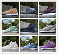 Wholesale Coloured Shoes - Cheap Ultra Boost ATR Mid Running Shoes Burgundy Oreo Triple Black High Quality UltraBoost Primeknit Men Womens Outdoor Sneakers 11 Colour