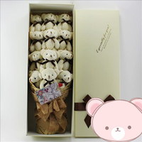 Wholesale Toy Teddy Bear China - 15cm Beige tie bears 12pcs lot gift bear FOR SALE China frozen