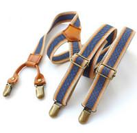 Wholesale Clip Suspenders For Women - 2015 new 2.5cm width Vintage 4 Clips Suspenders Men Casual Clothing Braces Belts Vintage Suspenders for Women Adjustable bretelles ligas