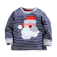 Wholesale Top Frocks - 2016 children long sleeve christmas tshirt Girls tshirts jumpers boys tees shirts cotton t-shirts sweatshirts frocks outfits blouses tops