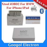 Wholesale Xtool Iphone - Wholesale-2015 Newest Xtool iOBD2 for BMW Diagnostic Tool for iPhone iPad with Multi-Language BY Bluetooth iOBD2 Diagnostic Tool