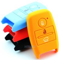 Wholesale Kia Sorento Wholesale - Muti-color Silicone Remote Key Protective Cover for KIA k3 k3s k4 k5 kx3 sportage R Carens Shuma Sorento key wallet car key case
