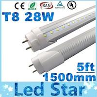 t8 führte leuchtstoffröhre 1,5m großhandel-T8 LED Röhre 1500mm 28W LED Röhre Licht 120LEDs SMD2835 LED Leuchtstofflampe Warm / Natrual / Cold White AC 85-265V