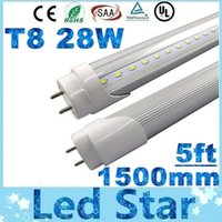 led floresan tüpler sıcak beyaz toptan satış-T8 led tüp 1500mm 28 W Led Tüpler Işık 120 LEDs SMD2835 Led Floresan Lamba Sıcak / Natrual / Soğuk Beyaz AC 85-265 V