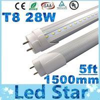 ingrosso tubi fluorescenti a led caldo bianco-T8 tubo led 1500mm 28W Led Tubi luce 120 LED SMD2835 Led Lampada fluorescente Caldo / Natrual / freddo bianco AC 85-265 V
