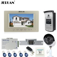 JERUAN Wired 7 pollici LCD Video citofono Citofono Kit RFID Access IR Night vision Camera + Metal 700TVL Analog Camera
