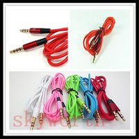 Colorful 3.5mm audio AUX Câbles mâle à mâle Extension stéréo voiture câble audio pour MP3 MP4 Pour iPhone Galaxy Mobile iPad Tablet