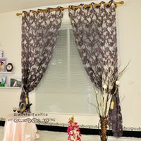 Wholesale home decoration luxury jacquard tulle fabric for window curtain living room