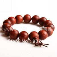 Wholesale Sandalwood Bracelets - Free shipping wholesale Red sandalwood bead bracelet (15MM) 50pcs lot 1019#19