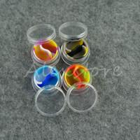 abs aprobado al por mayor-Recipiente de silicona acrílica 5ml 7ml 10ml concentrado de cera envases de silicona ABS plástico dab bho tarros de aceite portaherramientas almacenamiento de tarros Aprobado por la FDA